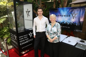 The StarPower Money Booth  with COO Matt  Heisie and CEO Terri Hitchcock
